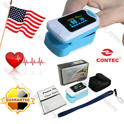 USA!!NEW Fingertip Pulse Oximeter OLED Finger Blood Oxygen SpO2 PR Monitor,Pouch