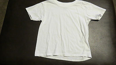 Boy SS Short Sleeve top shirt size S Small 6-8 solid white