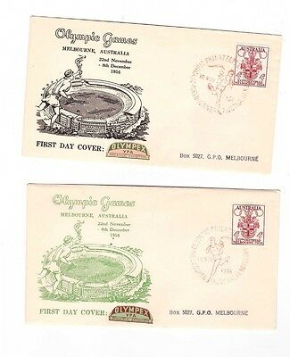 Australia 1956  OLYMPEX Covers, cds PHILATELIC EXHIBITION in red ( 2 Covers )