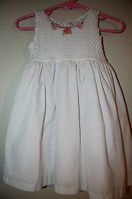 Victoria Kids Baby Girl Size 6-12 Mos. White Dress, Cute!