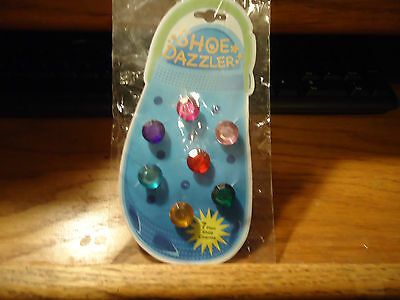 Shoe Dazzler Gem Shaped Shoe Charms 7pc New in Pkg
