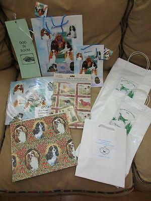 Mixed Lot of CAVALIER KING CHARLES SPANIEL Wrapping Paper, Gift Bags & More
