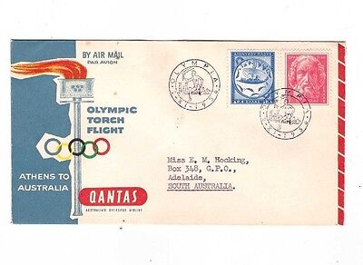 Australia OLYMPIC Flight Cover from ATHENS