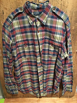Polo by Ralph Lauren, mens size xl, long sleeve collared, plaid standard fit