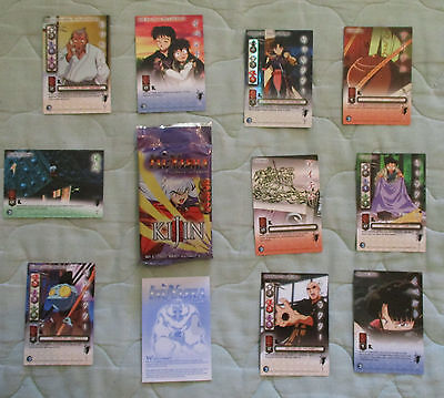 InuYasha 10 Trading Cards & Directions - hardly used kept in pkg