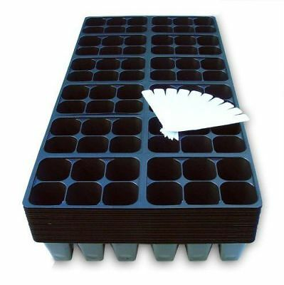 Seedling Starter Trays, 1440 Cells: (240 Trays) Plus 20 Plant Labels,