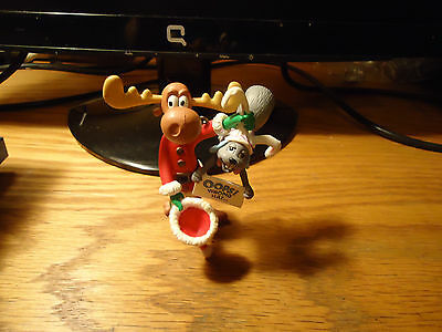 """Carlton Christmas Ornament Rocky and Bullwinkle """"Oops Wrong Hat!"""""""