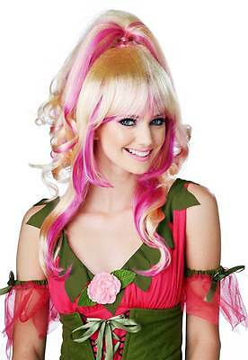 Sugar & Spice Two Tone Blonde Pink Wig Pony Tail Costume Accessory Women 70757
