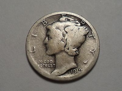 1919-D  Nice 90% Silver Better Date Winged Liberty Head Mercury Dime!!!!