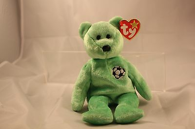 TY BEANIE BABY VERY RARE KICKS BEAR orig. collectible with Tag Errors! 1998