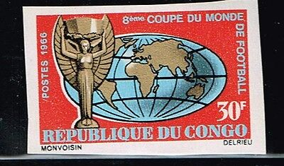 Congo.1966 World Cup.Soccer.Football.Fussball.Imperfor.MNH.**