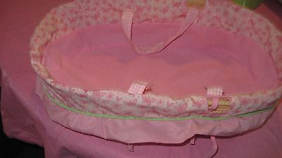 """Tollytots   Baby Doll Bed Moses Basket Carrier fits up to 13"""" Dolls"""