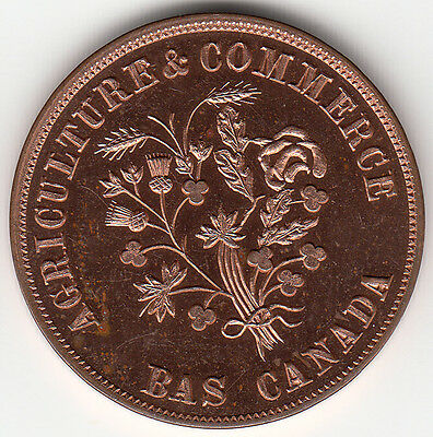 Canada  Colonial token Breton 690a 29 mm restrike from the T. Elder dies of 1908