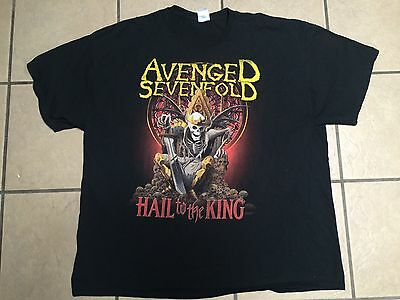 "AVENGED SEVENFOLD "" HAIL to the KING "" Tour 2013 Shirt 3XL"