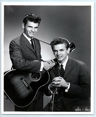 1950's Original DON PHIL EVERLY BROTHERS Vintage FABRY NASHVILLE Publicity Photo