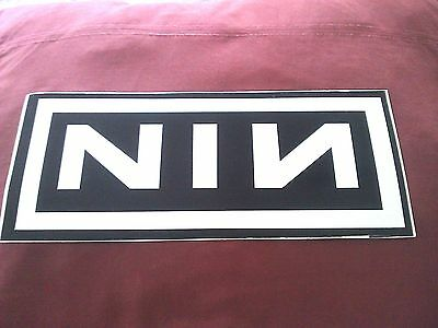 """Nine Inch Nails 10.25""""x4.5"""" Large Sticker Decal new old stock"""