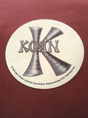 "KORN 3.5"" Round STICKER DECAL new old stock"