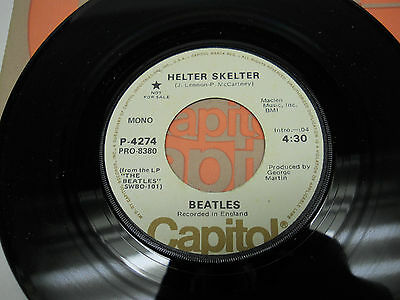 The Beatles HELTER SKELTER Capitol Records PROMO 45 RPM Beautiful MONO STEREO