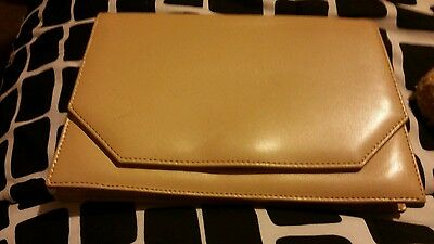beige clutch bag..made in italy
