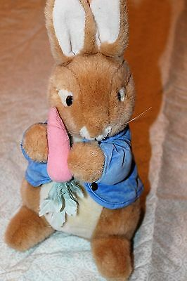 "13"" Peter Rabbit Plush Stuffed Bunny Eden 100 Anniversary Beatrix Potter Carrot"