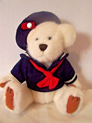 Pickford Bears Brass Button Taylor Bear of Happiness white plush collector bear