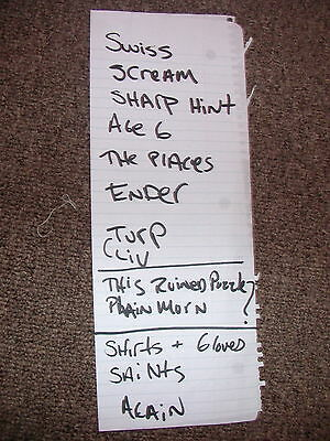 Dashboard Confessional 2001 Setlist Handwritten Swiss Army Romance Hands Down