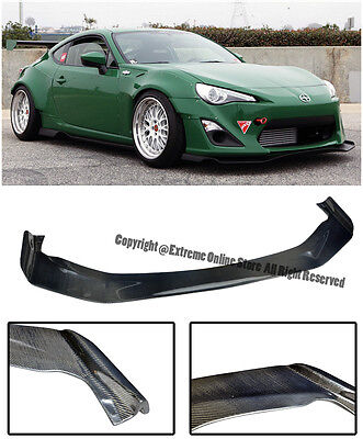 For 13-Up Scion FR-S Subaru BRZ Bunny V1 Style Carbon Fiber Front Lip Splitter
