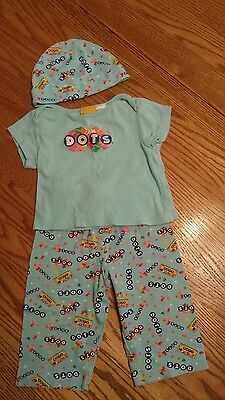 Adorable DOTS candy outfit size 9-12mths