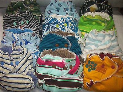 Random Try One MamaBear Cotton One Size Fitted Cloth Diapers - trim and cute!