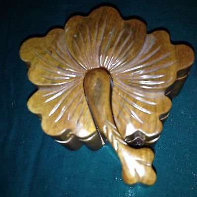 Handcrafted Wooden Puzzle Box--Trinket Box--Hibiscus Flower--4 Parts