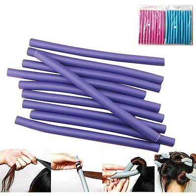 10PCS Curl DIY Hair Curlers Tool Styling Rollers Spiral Circle Magic Roller SS