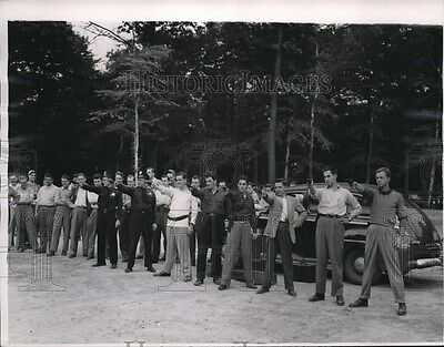 1950 Press Photo Police cadets to try out the Cleveland Police Department