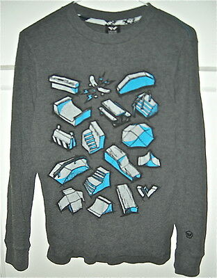 SHAUN WHITE Gray Thermal Long Sleeve TShirt Boys SZ LG 12-14 Skateboard graphics
