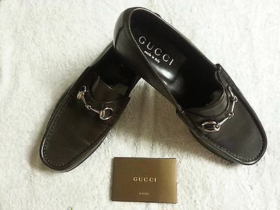 GUCCI MENS LEATHER SHOES Size 44 BRAND NEW