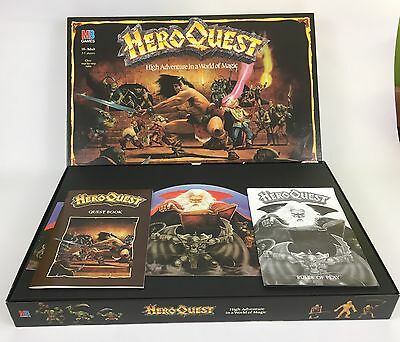 Hero Quest MB Games Workshop Classic Game 100% Complete Unpainted
