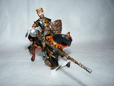 Papo Jousting King Lion Crest Mounted Action Figure Medieval Knight Collectable