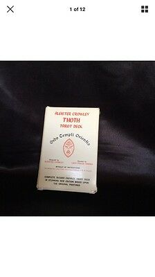 RARE Thoth tarot aleister Crowley rare white box C -1983 edition large cards