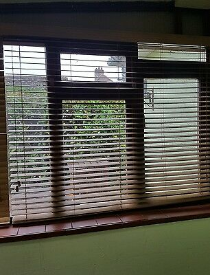 Wood effect venetian blinds - Beach colour 4 cm width slats