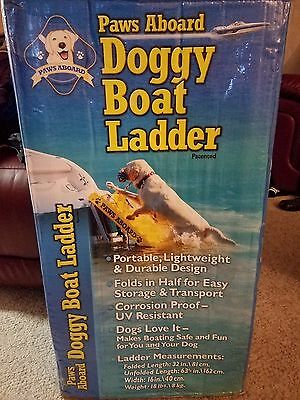 "Paws Aboard Pawz Dog Boat Ladder Steps Floating 64"" x 16"" Large Dog up to 130 lb"