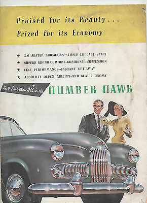 Humber Hawk Car Brochure