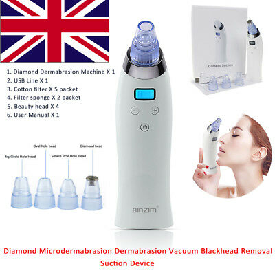 Blackhead Remover Diamond Microdermabrasion Dermabrasion Vacuum Suction Device