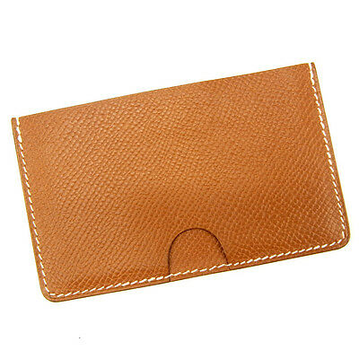 Auth Sale Hermes Card Case unisexused J13810