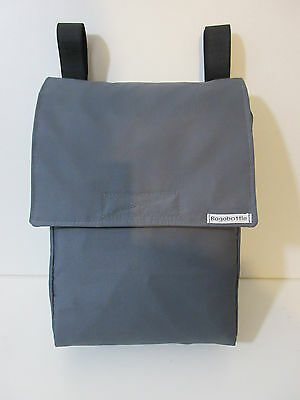 Bagabottle Grey Pouch Bag fits Bugaboo icandy,Graco Evo, Quinny Mood & More