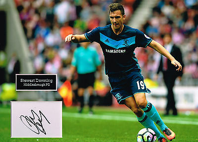 Stewart DOWNING SIGNED Autograph 16x12 Photo Mount AFTAL COA Middlesbrough