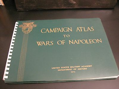 Lot of *4* US Military Academy CAMPAIGN ATLASES: NAPOLEON/GREAT WAR/WW2 (2 DIFF)
