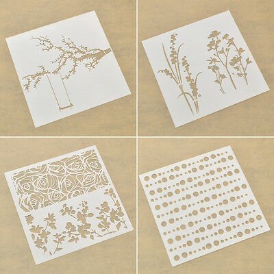DIY Modello Stencil Template Parete Pittura Craft in Plastica Design Regalo