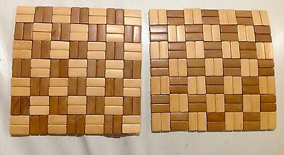 2x Lamp Dining Table Mat Bamboo Placemat Serving Dish Decorative Chess Board Mat