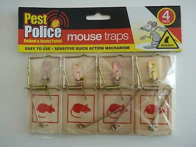 1, 5 or 10 Wooden Mouse Traps Traditional Classic Pest Control Mousetrap Rodent