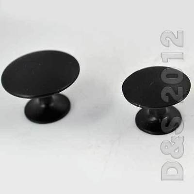 1 Piece Round Black Wardrobe Drawer Pull Cabinet Handles Door Single Hole Knobs