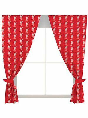 Official Liverpool Football Club Curtains Kids Boys Fans Bedroom - 66x72 Inch